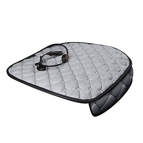 ckground Elektroautokissen - Beheizte 12-Volt-Plüsch-Reisesitzauflage für Auto, beheiztes warmes Kissen -