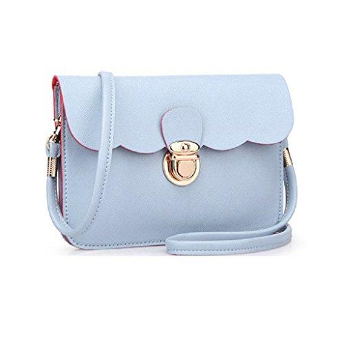 Borsa Familizo Elegant A tracolla in pelle delle donne pochette borsetta Tote borsa Hobo Messenger Blu