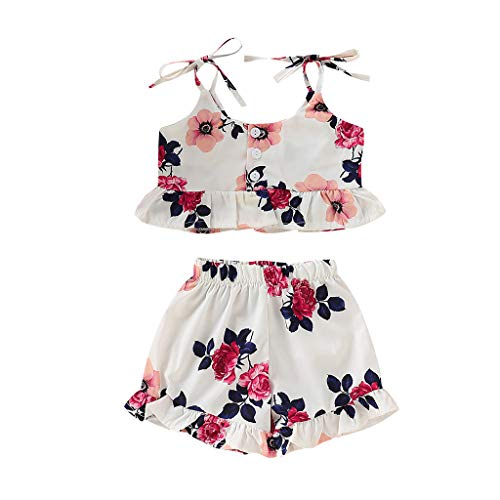 Last Minute Kostüm Mädchen - MRURIC Bekleidungsset,Kleinkind Baby Mädchen Spitze Crop