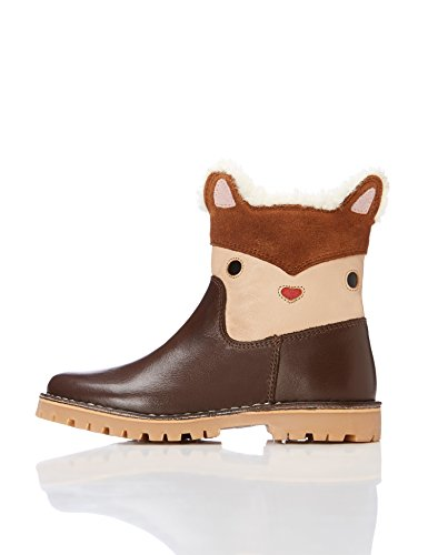 RED WAGON Botas con Osito para Niñas, Marrón Brown, 26.5 EU
