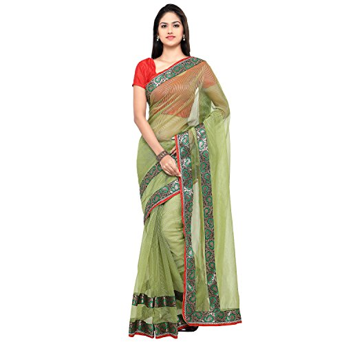 Sarvagny Clothing Women's Green Kota Cotton & Silk Cotton Blend Fashion Saree with Blouse Piece  available at amazon for Rs.399