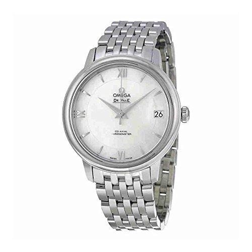 Omega Mujer 33mm acero pulsera y caso automático analógico reloj 42410332005001