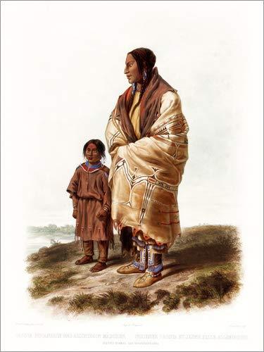 Posterlounge Alu Dibond 30 x 40 cm: Dacota Frau von Karl ()