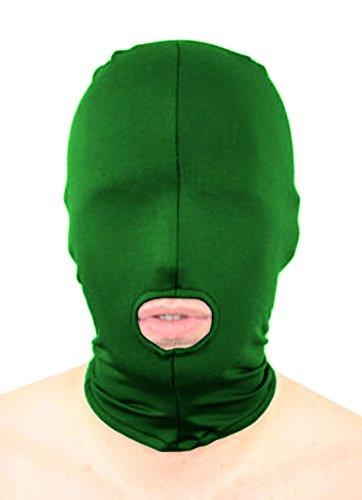 (howriis Unisex Lycra Spandex öffnen den Mund Zentai Kapuze Maske Gr. Kinder, Grün)