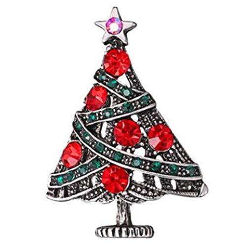 hen-Emaille-Weihnachtsbaum-Brosche Legierung Strass Nieten Corsage Pin Breastpin Schmuck Souvenirs ()