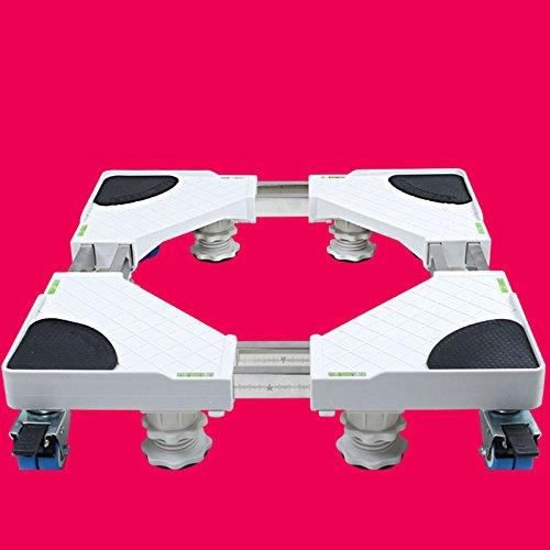 Zcrfy base per frigorifero e lavatrice base lavadora carrello per apparecchi ruote regolabili multifunzionali,8legs+8wheels-brakes