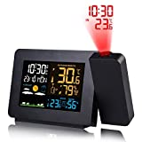 Lamptti Multi-function Projection Alarm Clock - Color Screen Weather Forecast Electronic Indoor
