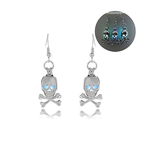 Beydodo Halloween Jewellery Dangle Earrings for Women Lumious Skull Earrings Drop Halloween Party
