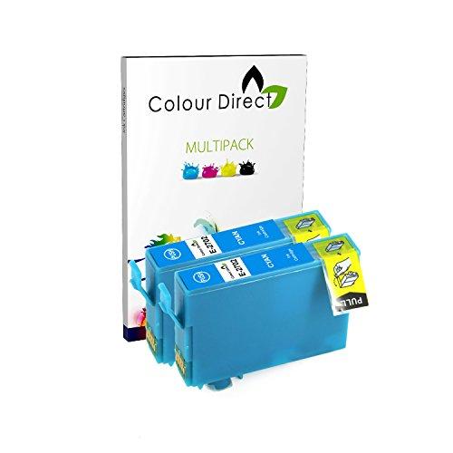 Preisvergleich Produktbild 2 Cyan ( 2702 )Colour Direct Kompatibel Tintenpatronen Ersatz für Epson WorkForce WF-3620 WF-3620DWF WF-3640DTWF WF-7110DTW WF-7610DWF WF-7620DTWF WF-7620TWF Drucker . 27XL
