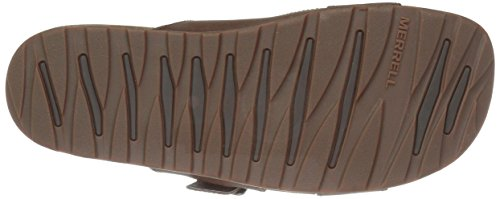 Merrell Herren Downtown Slide Buckle Sandalen Braun (Dark Earth)