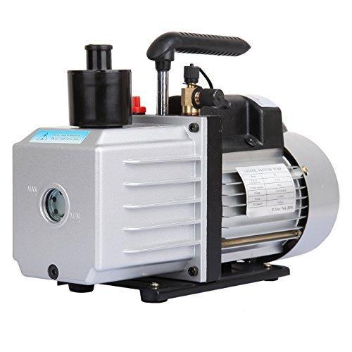 0.75 Hp Air (Ridgeyard Vakuumpumpe Unterdruckpumpe 3/4HP 50Hz 8CFM 1440 RPM 300ml einstufige Dreh Refrigeration Vakuumpumpe schnelle Lieferung)