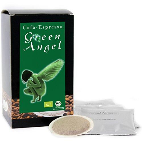 Big Päck C&T Premium Kaffeepads BIO Espresso Green Angel 150 Stück | Pads für Senseo Kaffeemaschine | Kräftig-Würzig | Schokoladig | Leichte Säure | Schonend geröstet in eigener Privatrösterei