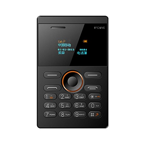 Telefon GSM Mobiltelefon Unlock Phones Dual-SIM-Karten Mehrsprachige Vibration Slim Card Music Handy MP3-Wiedergabe, Video Player, GPRS, Speicherkartensteckplätze, UKW-Radio, Nachricht, Bluetooth (Schwarz)