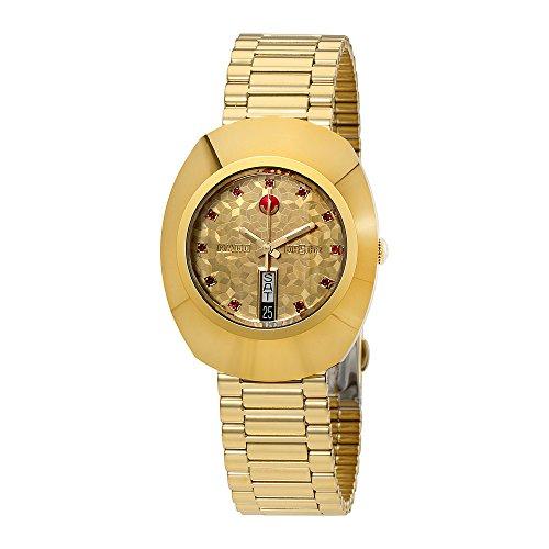 Rado Original L Automatik gelb gold Zifferblatt Herren Armbanduhr r12413653