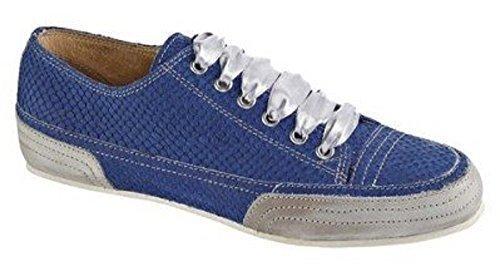 Sneaker Chillany In Pelle / Stringata Blu Blu