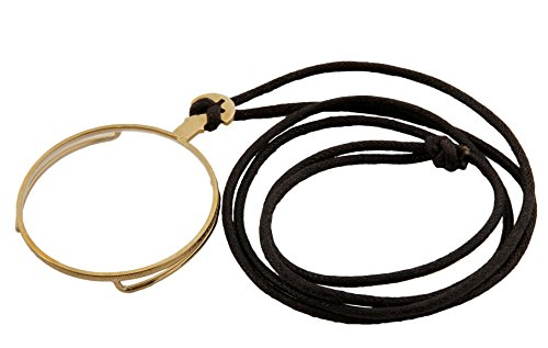 Monocle Kostüme (Steampunk Monokel goldfarben mit Halteband - 42mm Durchmesser für)
