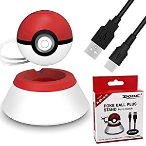 Charger Stand Compatible for 2018 Nintendo Switch Pokeball Plus Controller, Conveniently Charger Stand with Charger Cable for Pokeball Plus Controller,Accessory for Pokémon Lets Go Game