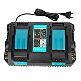 OPSON 4A Chargeur Double Port DC18RD Chargeur pour Makita 7.2V ~ 18V BL1815 BL1830...