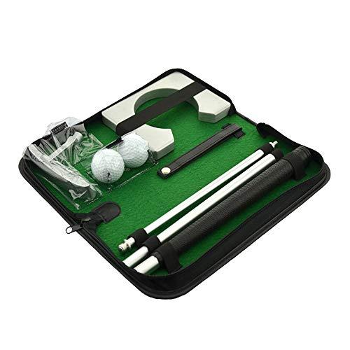 Mitrc Tragbarer Golf Putter Set, Übungsgolf Golf Club Set 2 Stück Bälle, Putting Cup für Indoor Outdoor Zubehör Golf Geschenk -