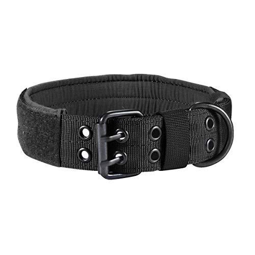 XFC-DOG-E, Einstellbare große Hundehalsband HalsketteChoker Hunde Traction Bedarf Outdoor Military Tactical Jagd-Hund Canine Hound Ausrüstung (Farbe : Schwarz, Größe : M) -