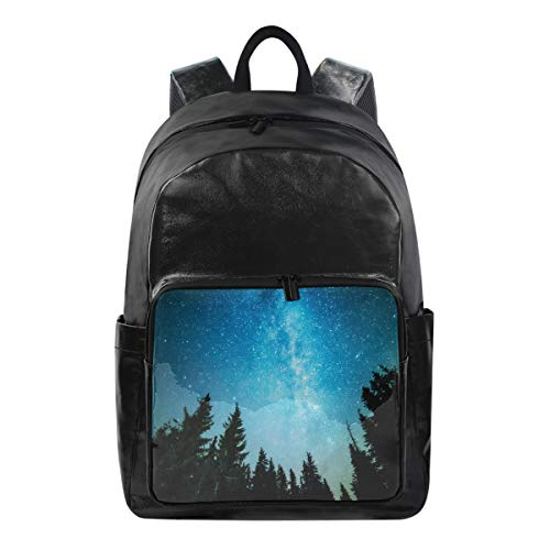 Student Backpacks College School Book Bag Travel Hiking Camping Daypack for Boy for Girl 12,5x9x17,5'' Holds 12.5-inch Laptop (Blue Beautiful Sky Tree (2))