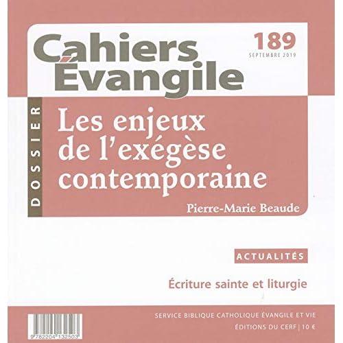 Cahier Evangile numéro 189 Les enjeux de l'exegèse contemporain