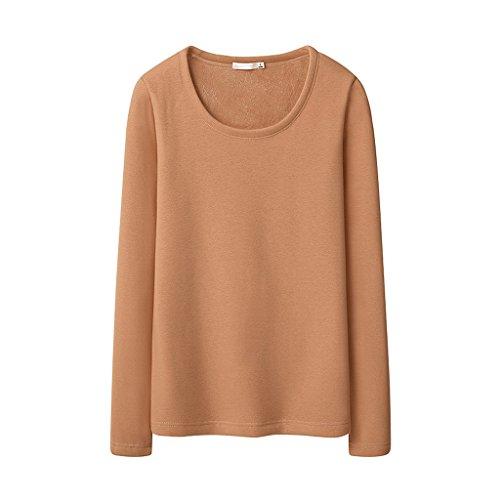 Verdickte Damen Winterbluse Schlankes warmes Langarm-T-Shirt ( Farbe : I , größe : XXL )