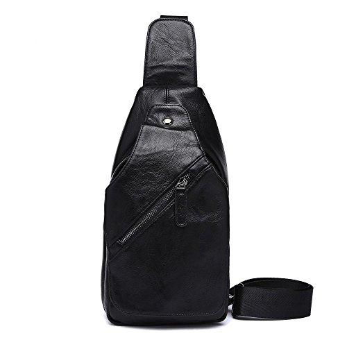 penao Messager de loisirs poitrine Mans sac bandoulière unique sac PU cuir oblique Cross Pack