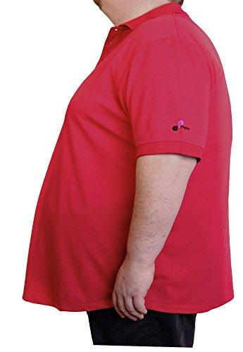 People Clothes - atmungsaktives Herren kurzarm Polo Shirt in Übergröße - Universalgöße von 6 XL bis 8 XL Rot