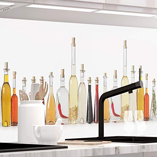 """Küchenrückwand selbstklebend Premium """" ESSIG UND ÖL """" 60 x 220cm DIY - Do It Yourself"""