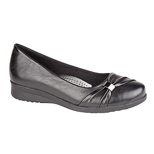 Boulevard - Chaussures à semelle compensée - Femme Noir