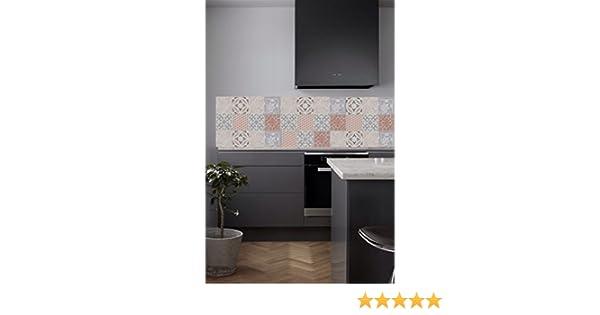 Vinyle pour cr/édence de cuisine fortement adh/ésive dimensions et motifs au choix Provence ocre, 60x300cm Carreaux de ciments adh/ésifs contre marche descalier et rev/êtement mural adh/ésifs