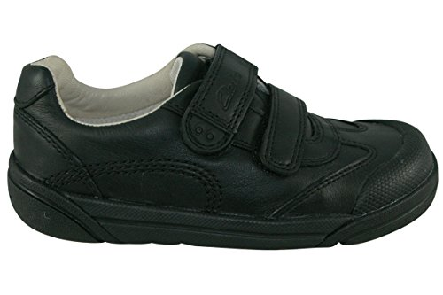 Clarks Lilfolk Zoo Inf Boy's School Shoes 9 F Black Leather