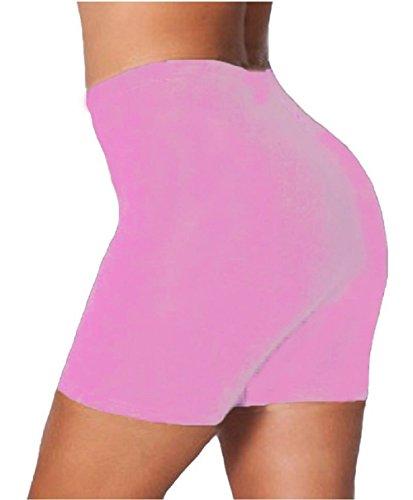 Damen Baumwoll-Elastan-Tanz-Radhose EUR Größe 36 bis 50 Baby Pink