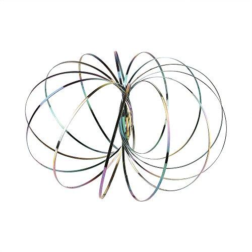 MUROAD Magic Flow Ring 3ra generación, anillo de metal de primavera 3D para niños y adultos dinámicas interactivas juguetes de descompresión, arcoiris
