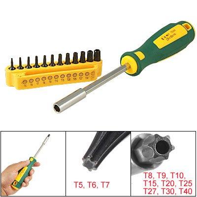 Aexit 12 Stücke T8 T9 T10 T15 Sicherheit Torx Magnetic Metall Schraubendreher-Bits Set (18a41c2301397d5998860e864992eac0) -