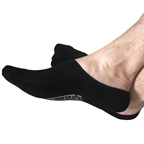 stomper-joe-bamboo-mens-athletic-no-show-socks-3-pck-cushioned-sole-medium-black