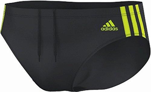 Adidas infinitex 3–stripes maillot de bain Gris - dark grey/semi solar yellow