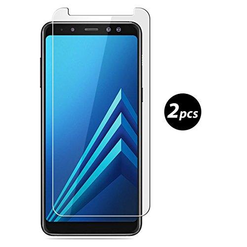 Preisvergleich Produktbild (2 Pack)Samsung Galaxy A8 (2018) Panzerglas - EUGO 9H Gehärtetem Glas Schutzfolie Displayschutzfolie Panzerglas für Samsung Galaxy A8 (2018)