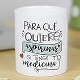 La Mente es Maravillosa - Taza con frase de amor y dibujo romántico (Para que quiero aspirinas si tengo tu medicina) Regalo para San Valentín