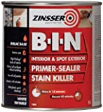 Zinsser ZINBIN1L 1 Litre B.I.N Primer/Sealer Stain Killer Paint