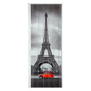 Falttür Schiebetür Tür Kunststofftür mit Motiv Eiffelturm Paris mit Schloß / Verriegelung bunt farben Höhe 202 cm Einbaubreite bis 83 cm Doppelwandprofil Neu