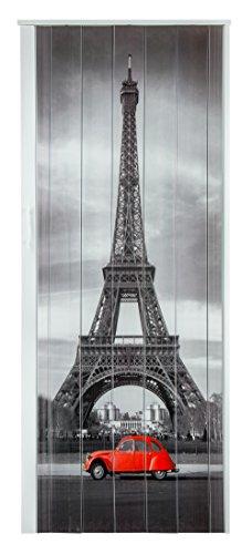 Falttür Schiebetür Tür Kunststofftür mit Motiv Eiffelturm Paris bunt farben Höhe 202 cm Einbaubreite bis 84 cm Doppelwandprofil Neu