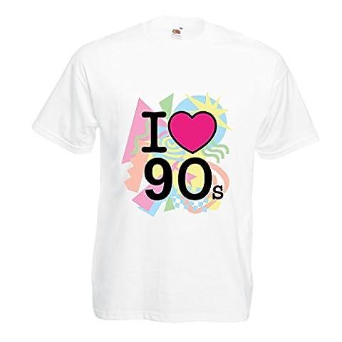 Photos Patrick Bruel - T-shirt pour hommes I Love 90's! -