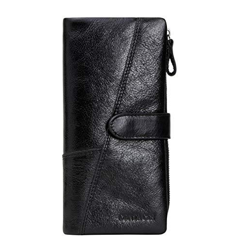 WNLZL Herrenbrieftasche aus echtem Rindsleder Brieftasche aus weichem Leder Unisex-Kartenhalter aus Rindsleder Organisieren Sie für den Valentinstag Vatertag,1 -