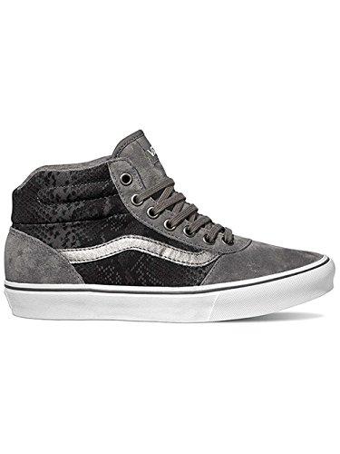 Vans Milton Hi, Sneakers Hautes Femme Grigio (Mte Snake Gray/Tan)