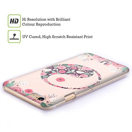 Head Case Designs Grunge Texture Yin Und Yang Kollektion Ruckseite Hülle für Apple iPhone 5 / 5s / SE Blüte