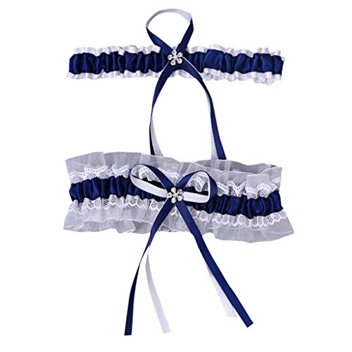 WoWer My Pretty Little Gifts Personalisierte weiße/Blaue Strumpfband - Wedding Favor Braut Hen Party Nacht zu Sein