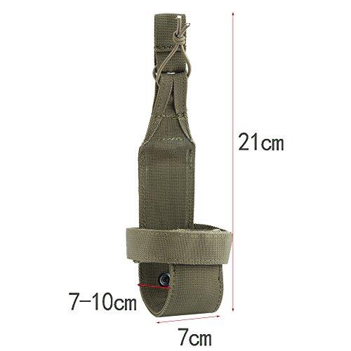 Outdoor Sport Wasserflasche Beutel Nylon Wasserflaschenhalter Gürtel zum Wandern Radfahren Camping Armeegrün
