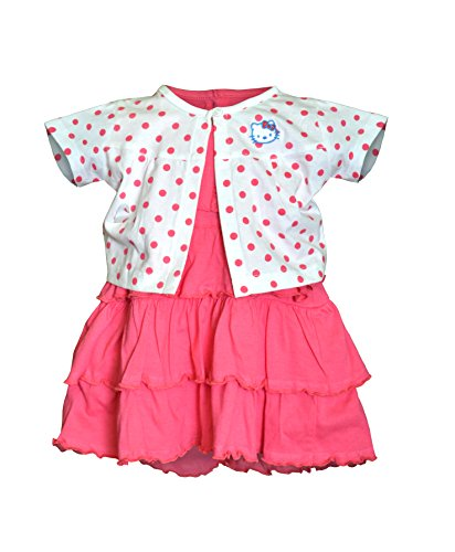 Orange and Orchid Baby Girls Cotton Frock